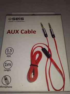 Cable Auxiliar Plug 3.5 Con Microfono