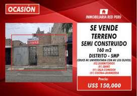 OCASIÓN VENTA DE TERRENO- 160M2-