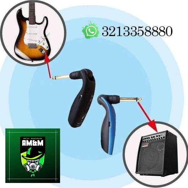 Transmisor inalámbrico de Guitarra y/o bajo alcance 50 mts (cable inalámbrico) 0