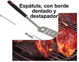 Espatula Asador Acero Inox Borde Dentado Destapador Bbq Grill parrilla