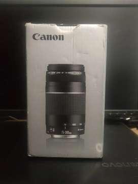Cambio por 18 -135 o disponible a la venta lente canon 75 300