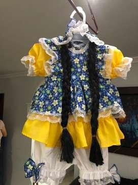 Disfraz muñeca talla 2