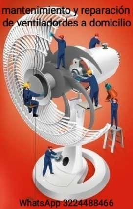 Mantenimiento y reparación de ventiladordes