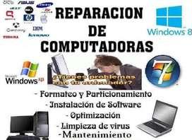 Mantenimiento y Reparación de computadores e impresoras a Domicilio