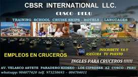 Personal para cruceros internationales