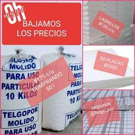 BOLSAS DE TELGOPOR MOLIDO VIRGEN