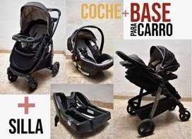 Coche + Base carro + Silla Marca Graco