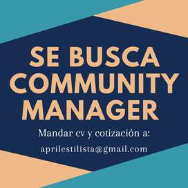 Se busca community manager