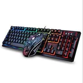 Combo Gamer K13 Teclado Mouse Led Rgb Retroilumindado