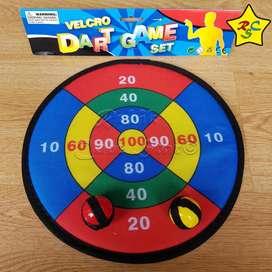 Juego Salón Tiro Al Blanco Dart Game Adherible Tela Velcro