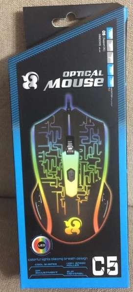 Mouse Optical Led C5. Nuevo