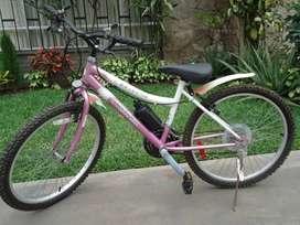 Bicicleta montañera Mister para dama - aro 24 - usada