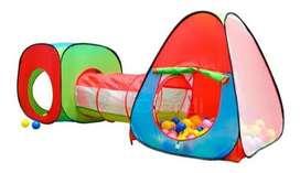 Carpa Túnel Circuito 3 En 1 Juego Para Niños