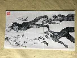 PLUMILLAS, Coleccion de dibujos tintas con plumilla, del maestro Edilberto Sierra.