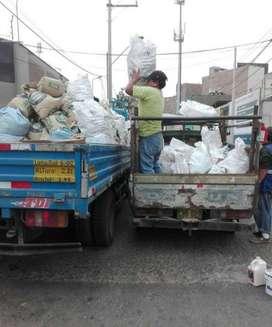 Eliminación de Desmonte Limpieza de Azotea, transporte de carga