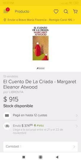 El cuento de la criada. De Margaret Atwood.
