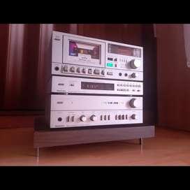 Technics sistema estereo alta calidad amplificador casetera tuner sansui marantz denon pioneer yamaha