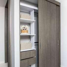 mobiliario cocina, closet, puertas, repisas, diseño.