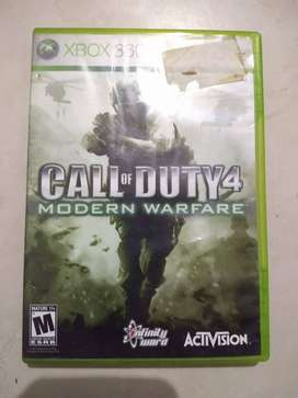 Call of Duty 4 Modern warfare para xbox 360.