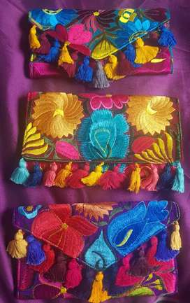 Carteras tejidas Mexicanas
