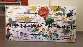 Cuadro pintura acrilica ideal revendedores, nuevo