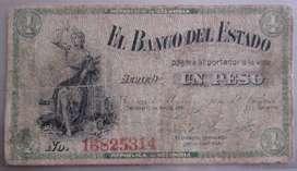 Billete 1 peso 1.900