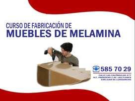 DICTAMOS CLASES INDIVIDUALIZADAS DE FABRICACIÓN DE MUEBLES DE MELAMINA