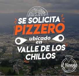 Se solicita pizzero residenciado en valle de los chillos