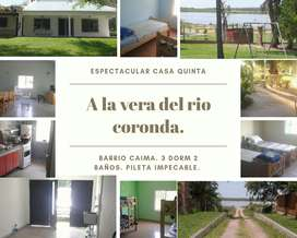 ATENCION QUINTA EN CAIMA.A LA VERA DEL RIO CORONDA- SANTA FE -