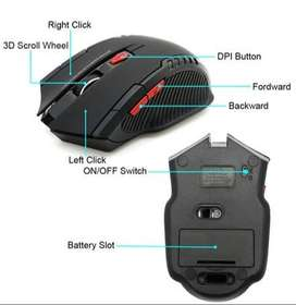 Mouse Gamer Inalambrico 2400 DPI-6 Botones AZUL