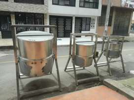Marmitas y tanques en acero