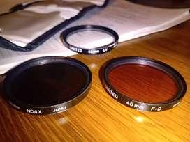 Filtros 46 mm UV , ND4X y F-D