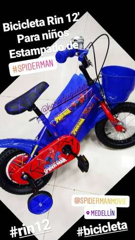 Bicicleta Rin 12 Spiderman / Frozen