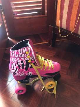 Patines Powerblade color rosa con bolso. Talle 36