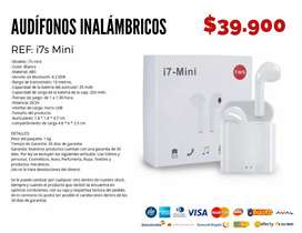Audífonos inalámbricos i7s mini.