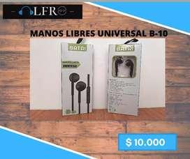 Manos libres universal- 1.5m/ Color negro