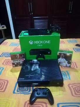 Xbox one en caja 500g y 1 tera