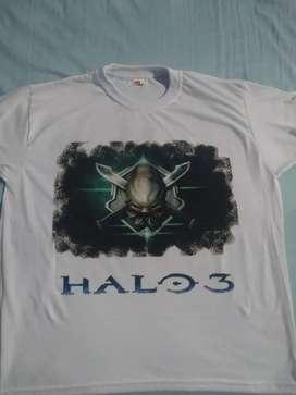 Camiseta sublimada (animé, videojuegos o el diseño que desees)