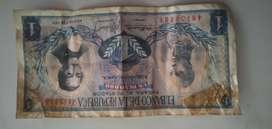 Billete 1 peso oro 1971