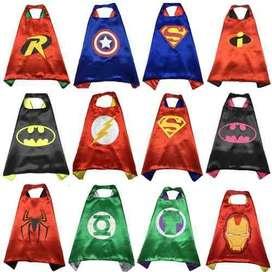 Capas Superheroes Recordatorio Fiesta