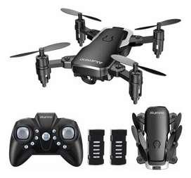 Drone AKAMINO mini,plegable bolsillo 4 hélices con modo sin cabeza, GIROS DE HELICÓPTERO tecla RETORNO para principiants