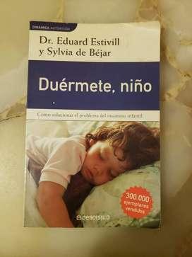 "Vendo Libro ""Duérmete, Niño"" de Dr. Eduard Estivill y Sylvia de Béjar Usado"