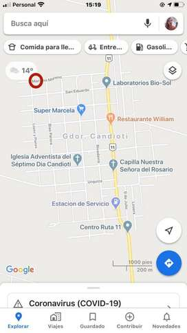 LOTE DE GRAN DIMENSION EN CANDIOTI PUEBLO