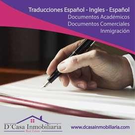Traductor Inglés - Español - Inglés
