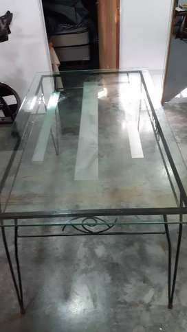 Mesa d vidrio grueso