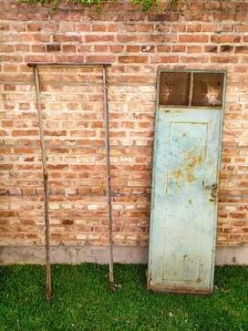 puerta de chapa con ventiluz y marco 2m x 55cm