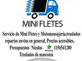 Mini Fletes Traslados de motos Traslados de mascotas Repartos Precios Accesibles Zona Sur