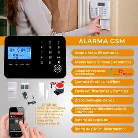Alarmas de seguridad para casa local gsm inalambrica