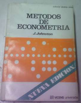 Métodos de Econometría - J. Johnston - 1975 - tapa dura