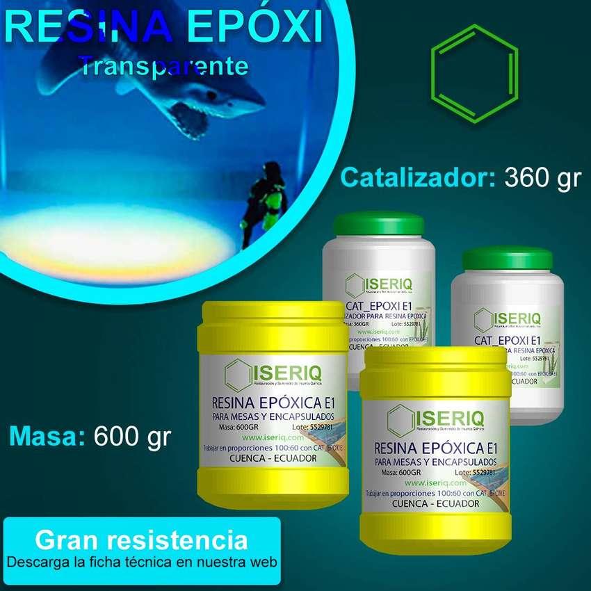 Resina EPOXI Transparente - Mesas y Encapsulados